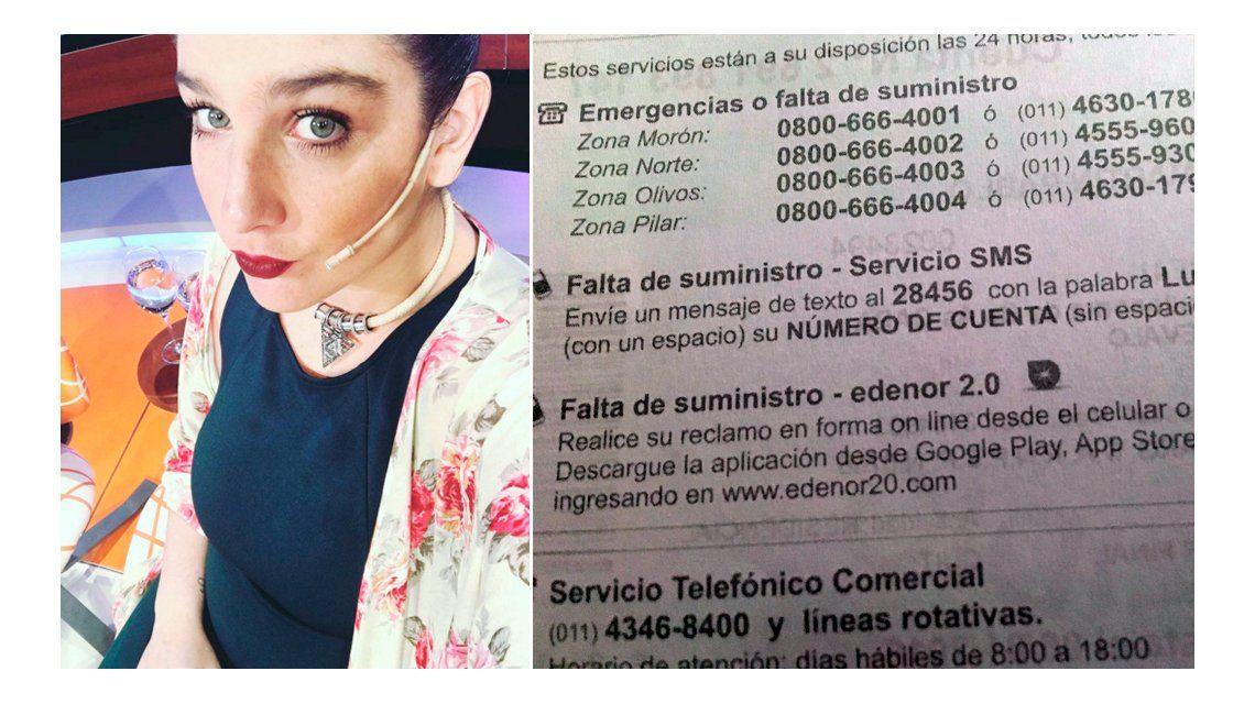Juana Repetto, embarazada y furiosa tras 17 horas sin luz: No puedo ir al baño, ni cocinar, ni usar el ascensor