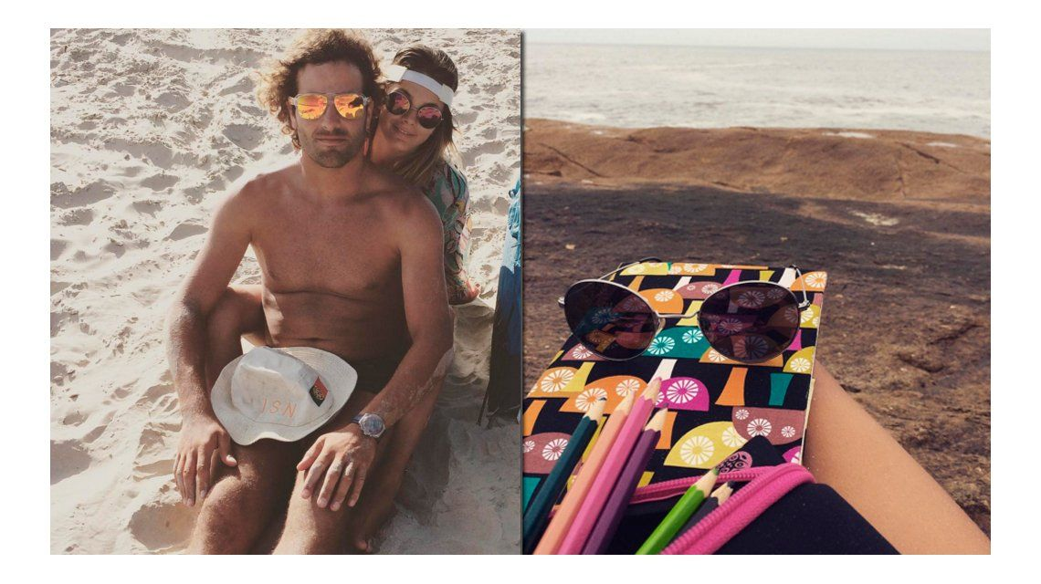 Las vacaciones de Natalie Pérez con su novio Ramiro en Brasil: enamorados en la playa y clases de surf