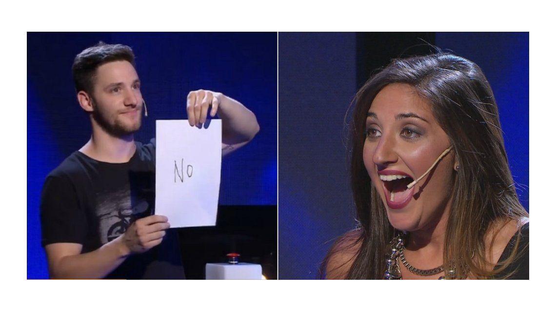 El participante le dijo no al beso y ella lo escrachó en vivo: ¡Bastante cag...!