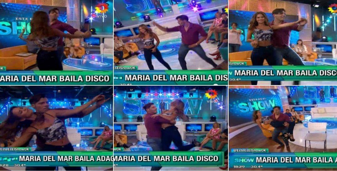Mirá sus poses y trucos: María del Mar se probó para el Bailando 2016