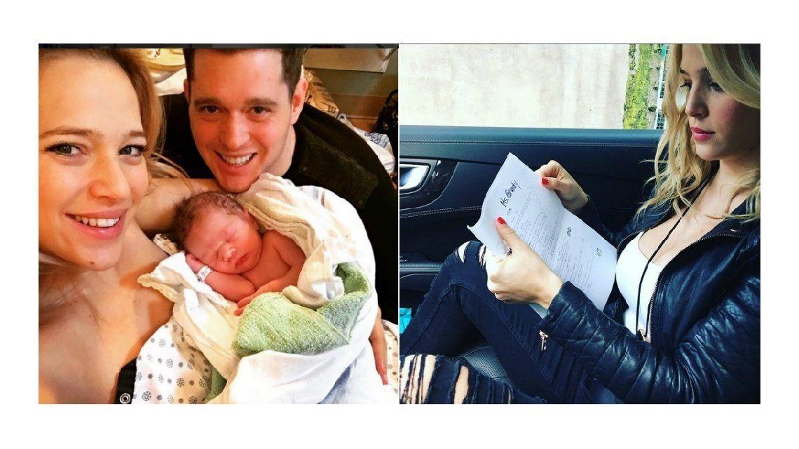 Mujer todoterreno: a un mes del nacimiento de Elías, Luisana Lopilato volvió a trabajar