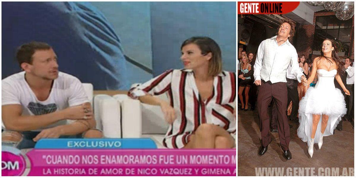 Nicolás Vázquez contó un encuentro imprevisto entre su ex mujer, él y Gimena Accardi