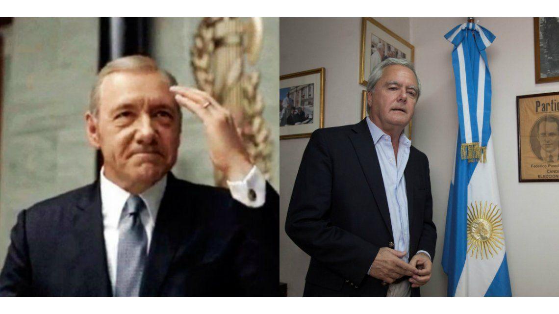 El especial mensaje de Frank Underwood, dedicado a la presidencia de Federico Pinedo y la respuesta del político