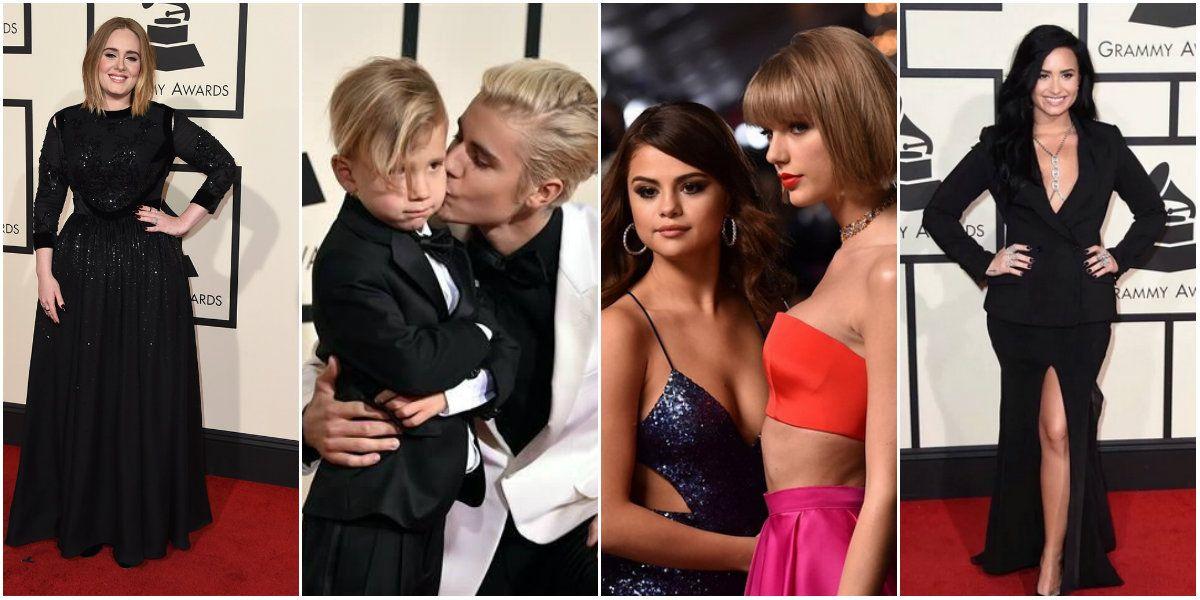 Se entregaron los Grammys 2016: Justin Bieber ganó su primer premio y Selena Gomez y Taylor Swift desparramaron sensualidad