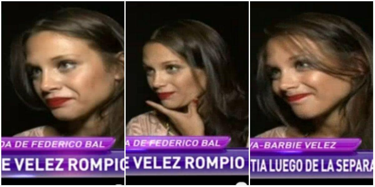 Barbie Veléz evitó dar definiciones sobre la separación, pero respondió con sugerentes gestos