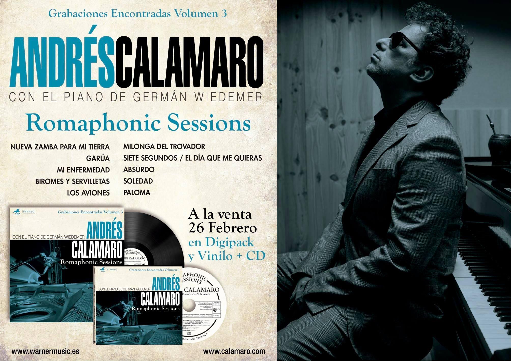 Andrés Calamaro adelanta canciones de su nuevo CD