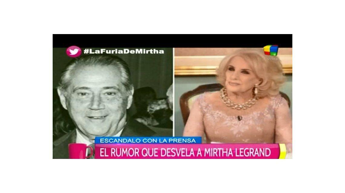 La furia de Mirtha Legrand por los rumores de una hija no reconocida de Daniel Tinayre: Recién me entero