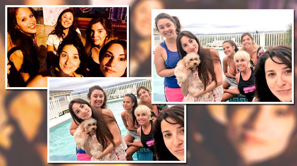 El fin de semana de soltería de Barbie Vélez: noche y pileta con Dalma Maradona, Claudia Villafañe y Magui Bravi