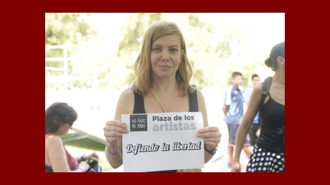 Plaza de los artistas: la convocatoria de Nancy Dupláa y Pablo Echarri por la libertad y la alegría