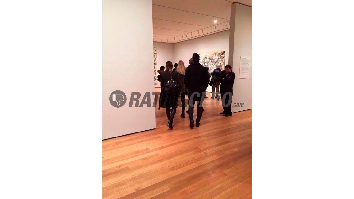 Pampita y Nacho Viale, de paseo en un reconocido museo de Nueva York