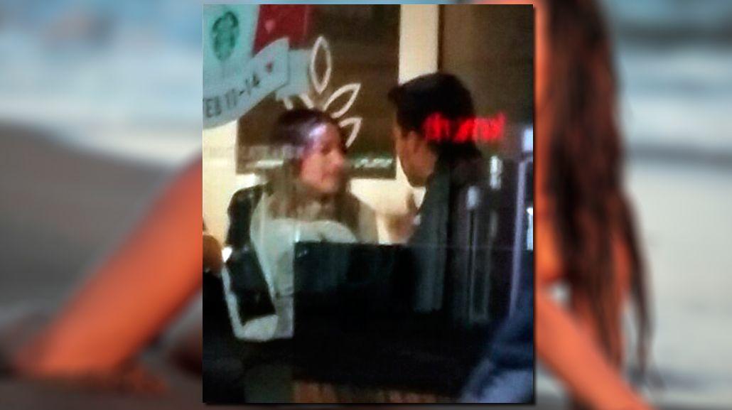 Pampita y Nacho Viale, juntos en una tienda de café en Nueva York