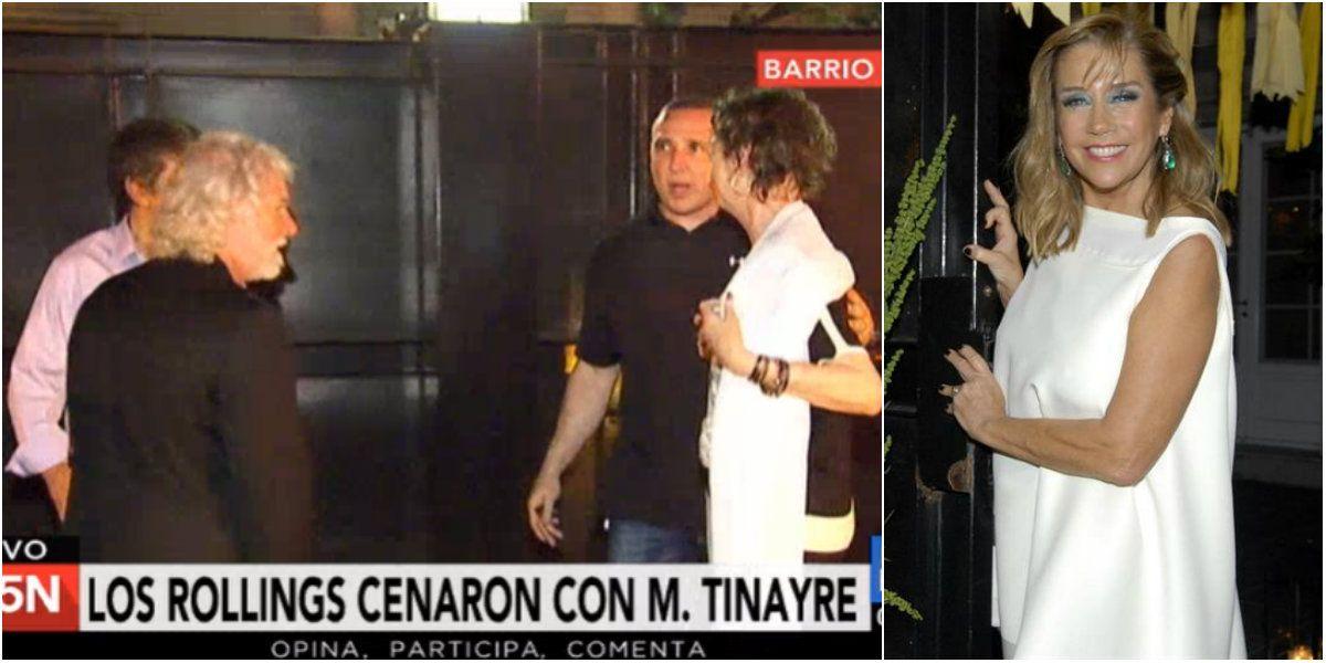 Los Rolling Stones cenaron en la casa de Marcela Tinayre