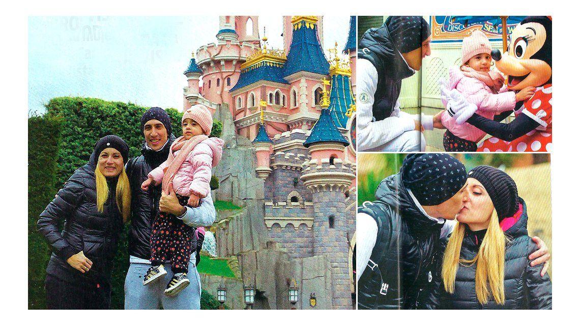 Las vacaciones sorpresa de Ángel Di María y su familia en Eurodisney