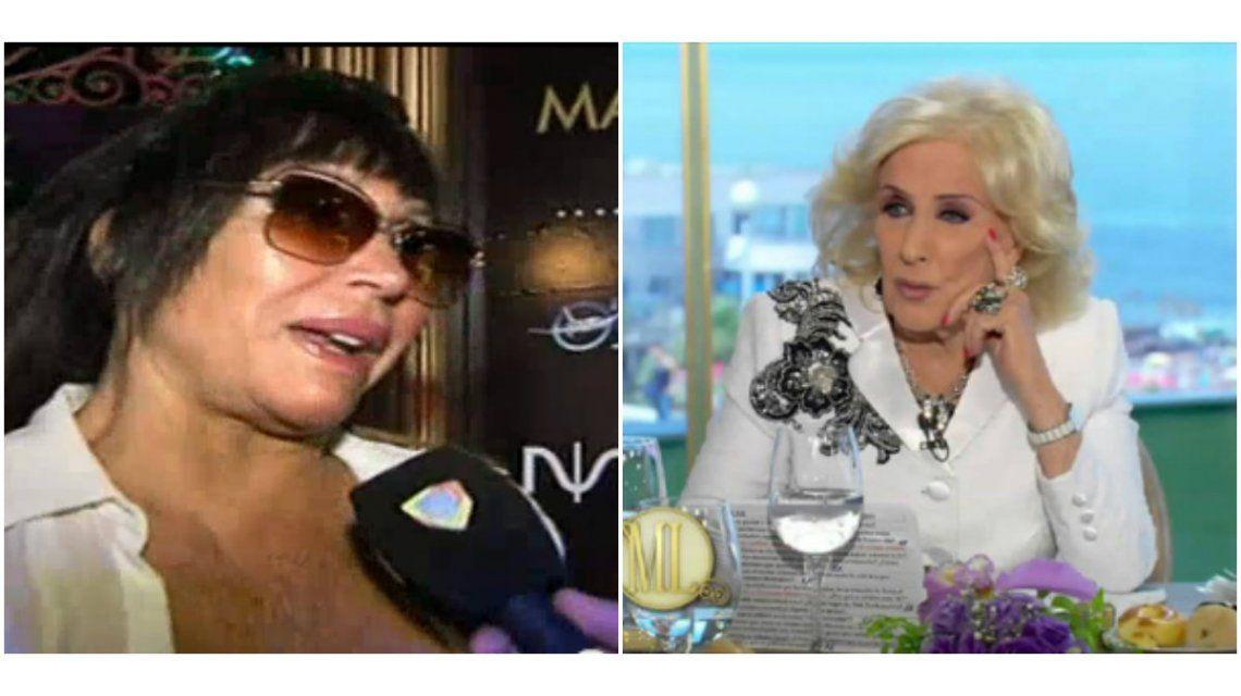 Moria Casán comparó a Mirtha Legrand con una escandalosa mediática: Es la nueva Silvia Süller