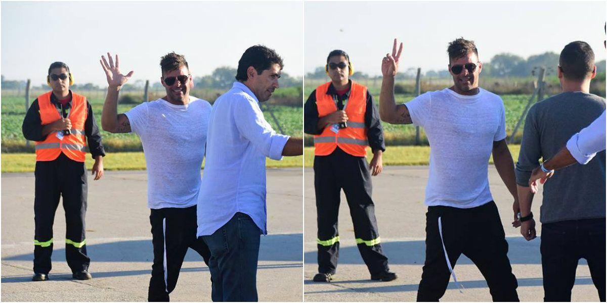 Así llegaba Ricky Martin al país: mirá las fotos