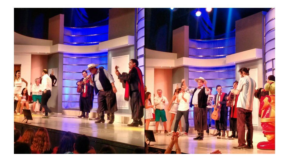 El Chaqueño Palavecino visitó Marcianos en la casa y puso a bailar al elenco