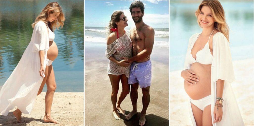 Marcela Kloosterboer posó junto a su marido: No solo es mi embarazo, está bueno compartirlo entre los dos