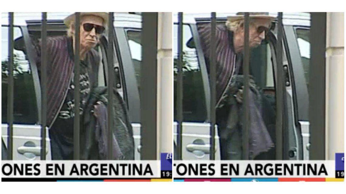 Los Rolling Stones llegaron a Argentina y Keith Richards saludó a los fans: el video
