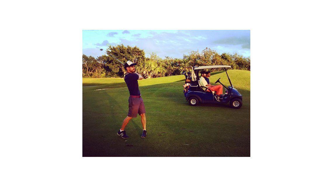 Gastón Soffritti no tiene tiempo para las mujeres por el golf