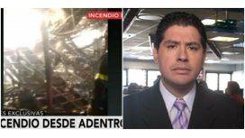 El incendio de Canal 13 por dentro y el relato de Guillermo Lobo: Es muy triste
