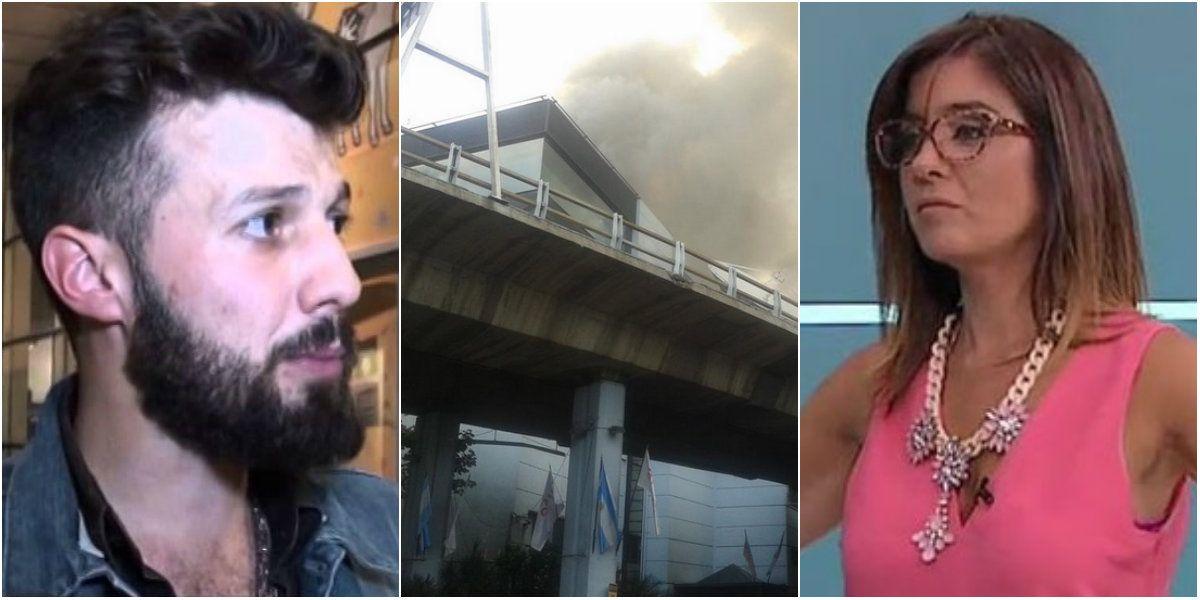 Los mensajes de los periodistas de El Trece y TN por el incendio