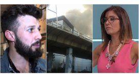 Los mensajes en Twitter de los periodistas de El Trece y TN tras el incendio de Atear