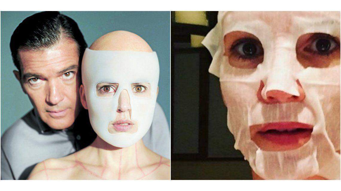 La piel que habito: Griselda Siciliani imita una escena de la película de Pedro Almodóvar