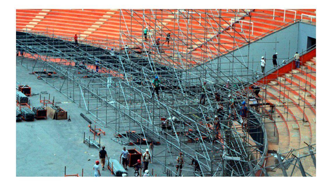 Rolling Stones en La Plata: comenzaron a armar el escenario