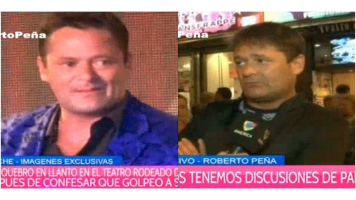 Roberto Peña se quebró en el escenario: No es una actitud para avalar ni aplaudir