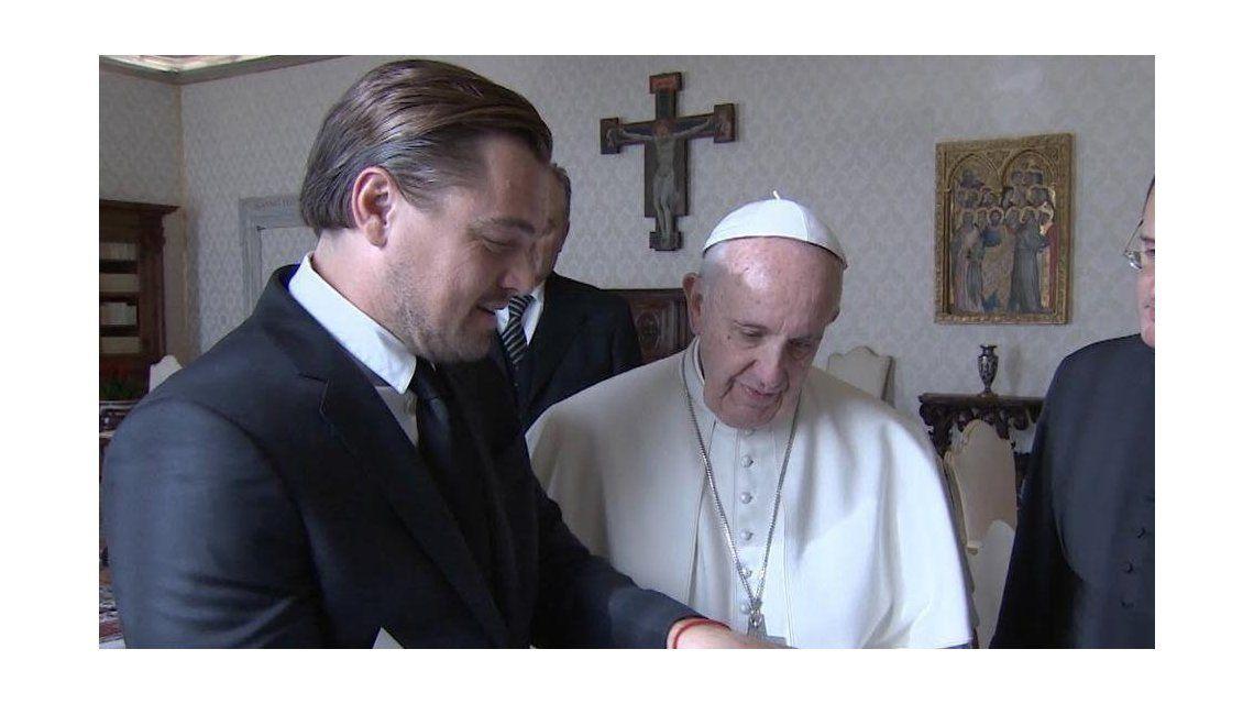 El Papa recibió a Leo DiCaprio por su compromiso con el medioambiente