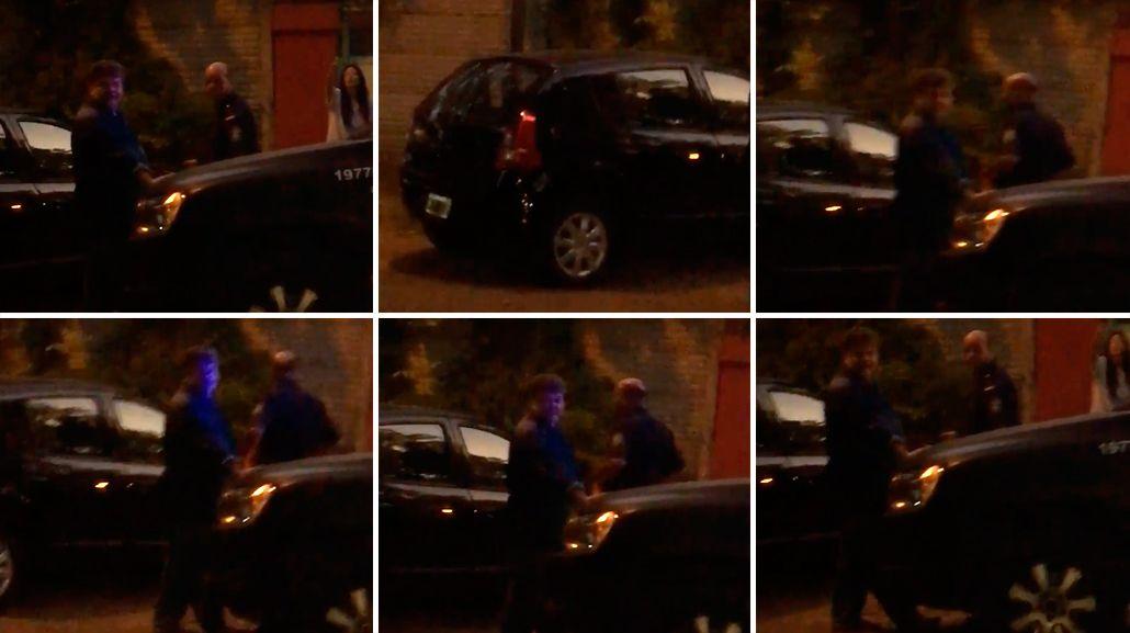 Alfredo Casero fue a increpar a su mujer y armó un escándalo policial: el video