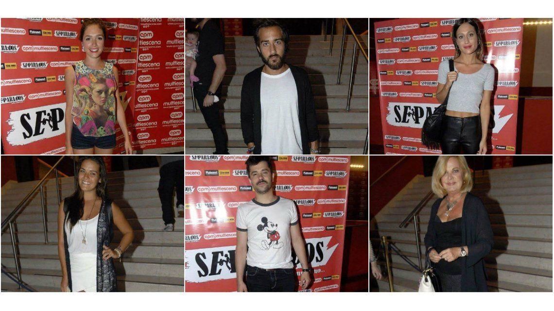 Mirá el look de los famosos en la función de prensa de Separados