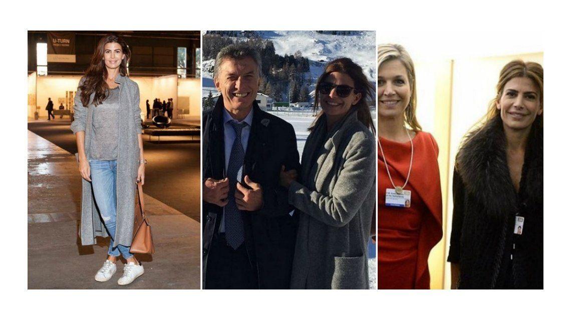 Juliana Awada y Máxima Zorreguieta, las argentinas que deslumbraron en Davos: mirá sus looks