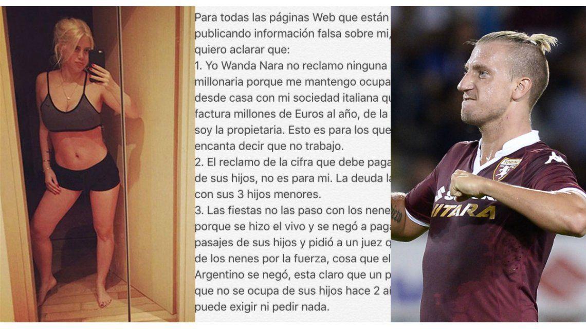 Fuerte comunicado de Wanda Nara contra Maxi López: Las fiestas no las pasó con los nenes porque se negó a pagar los pasajes