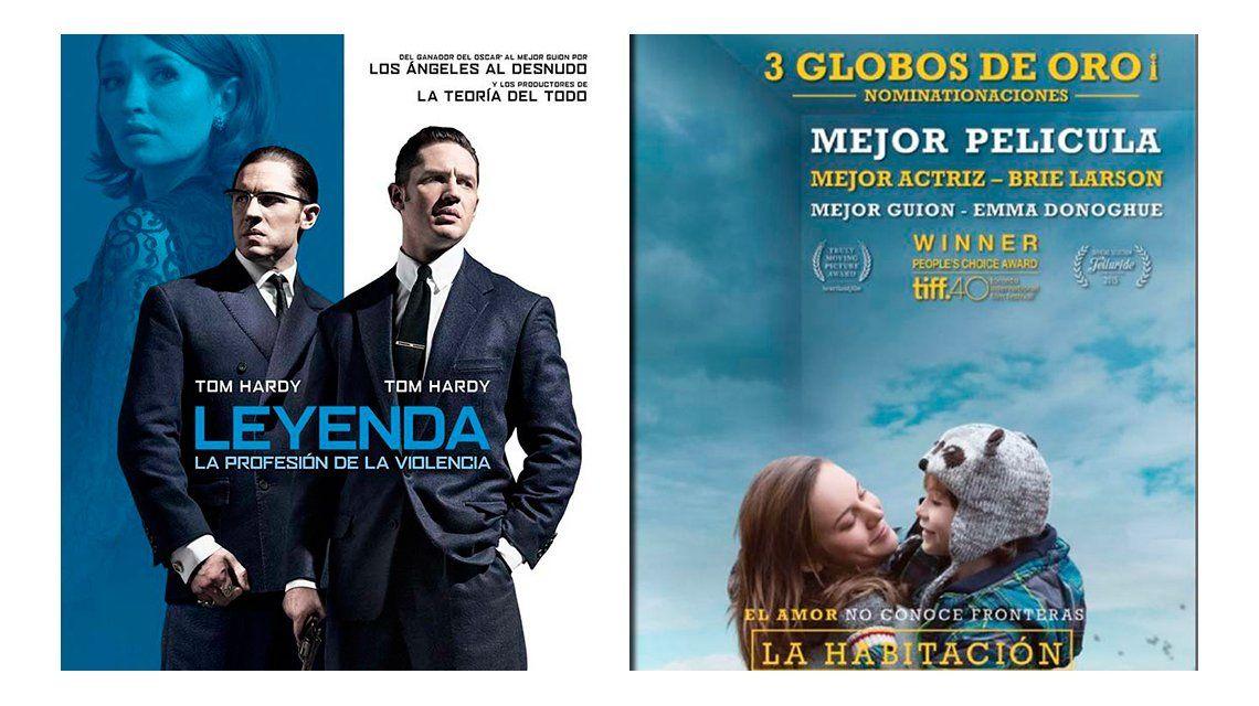 La habitación y Leyenda, los estrenos de cine de la semana
