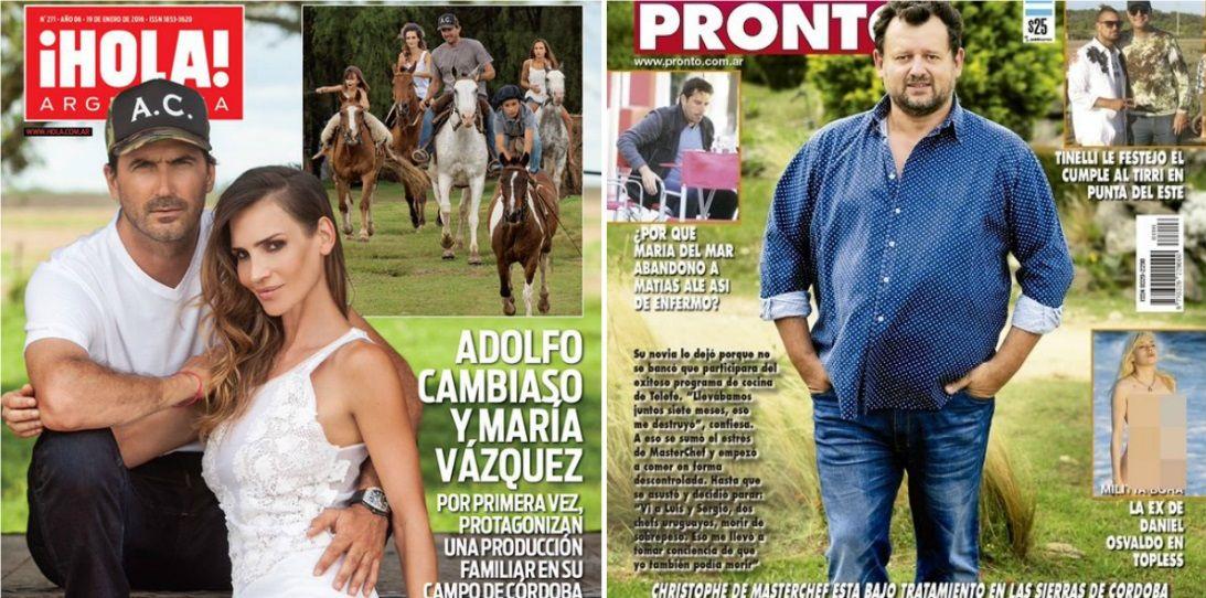 Tapas de revistas: La intimidad de Adolfo Cambiaso y María Vázquez en su campo de Córdoba y el mal momento de Christopher de Masterchef