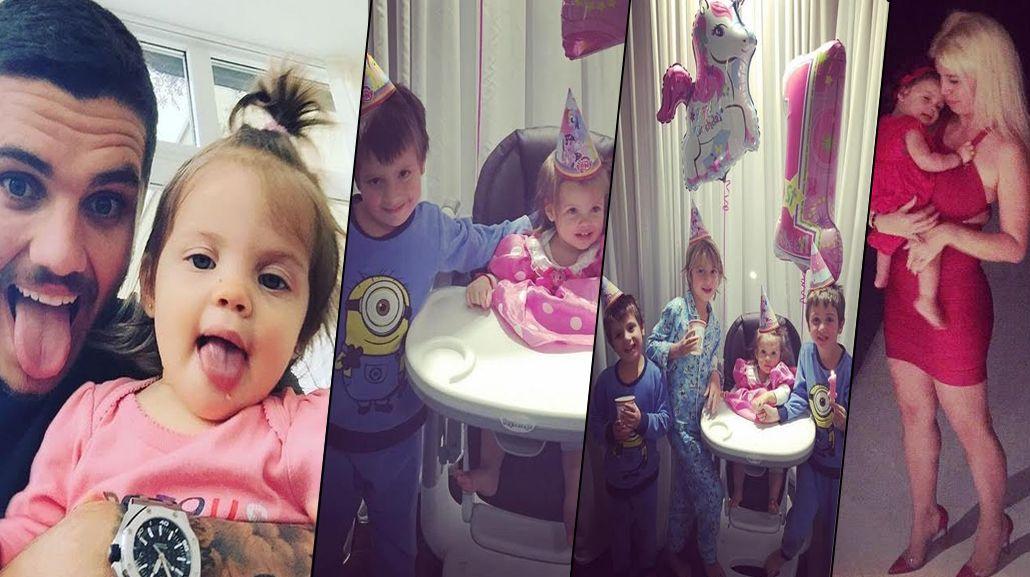 Fotos y mensajes por el cumpleaños de Francesca Icardi: Hace un año conocimos a nuestra pequeña caprichitas
