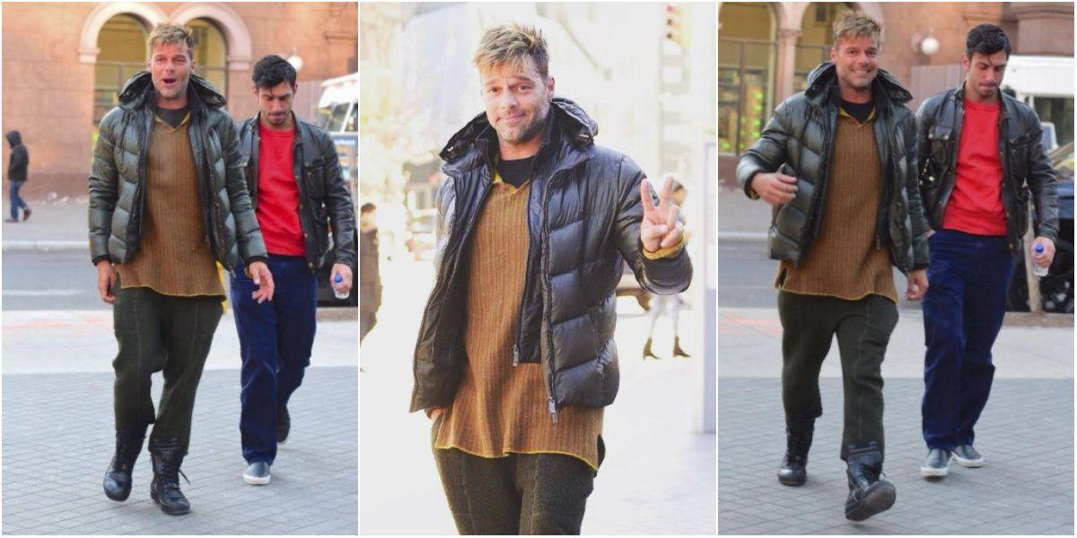 Ricky Martin, de paseo con su novio por las calles de Nueva York: mirá las fotos
