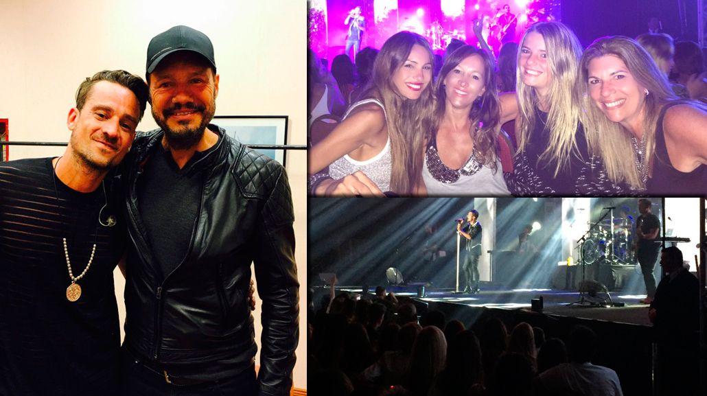 El show top de Tan Biónica en Punta del Este: mensajes buena onda de Marcelo Tinelli y foto con Pampita