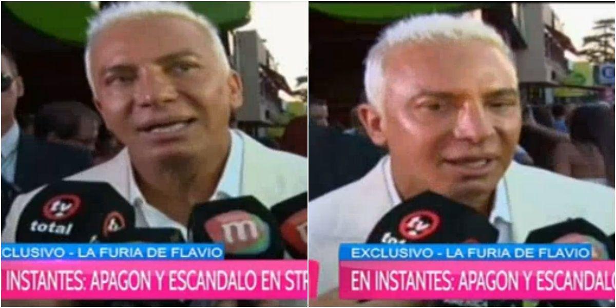 Flavio Mendoza, al borde del llanto por el apagón en Stravaganza: Es angustiante