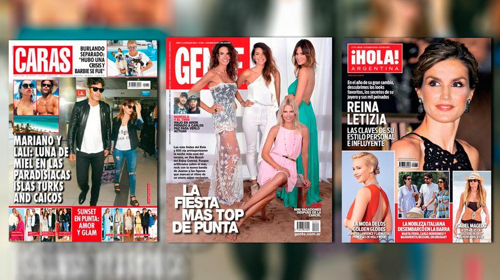 Tapas de revistas: la mini luna de miel de Mariano Martínez y Lali Espósito, y la fiesta mega top de Punta del Este