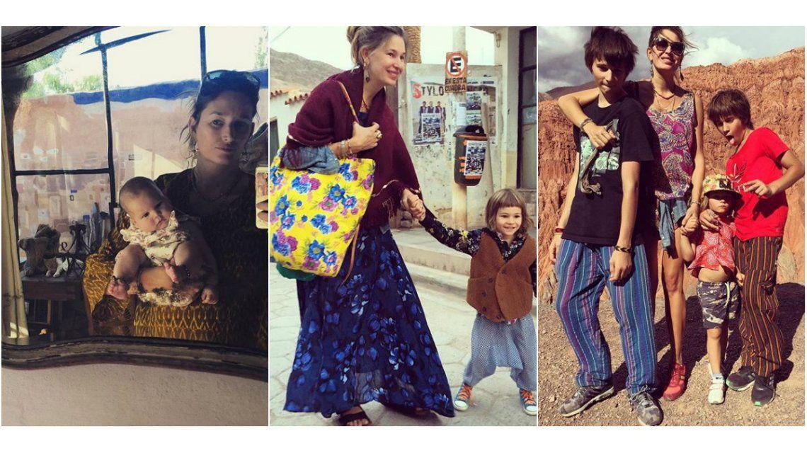 Las vacaciones hippies de Dolores Barreiro y su familia en Jujuy