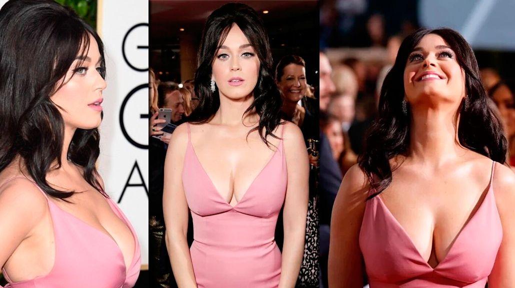 El escote explosivo y una jugada insinuación de Katy Perry en los Globo de Oro