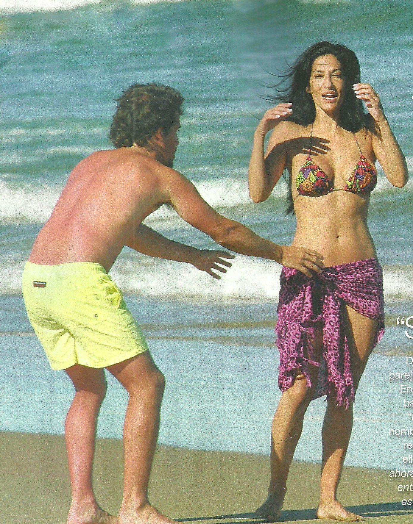 Silvina Escudero ¿con nuevo novio?: divertidos mimos en las playas de Punta del Este