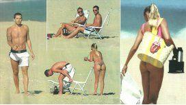 Gago y su mujer, rockeros en Punta: mimos, descanso en la playa ¡y lomazos al sol!