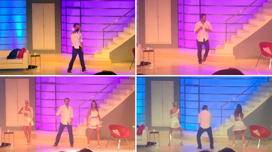 El video del alocado baile de Pedro Alfonso en el teatro
