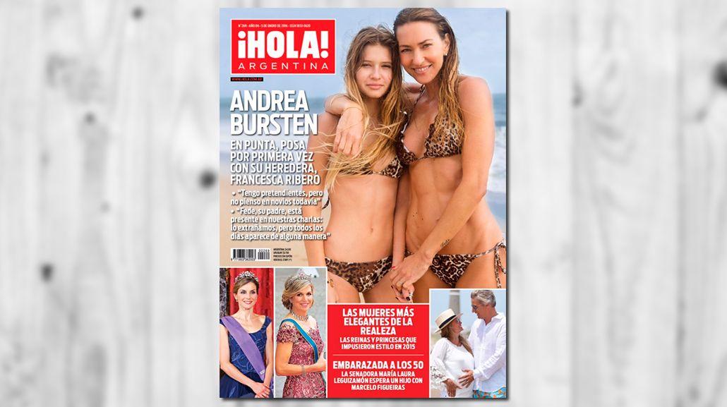 Andrea Bursten posó por primera vez con su hija, tras la muerte de Federico Ribero