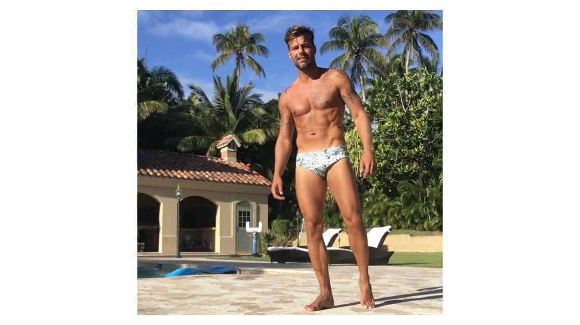 Ricky Martin, bombón a los 44 años: lució sus tatuajes, una sunga ¡y revolucionó las redes sociales!