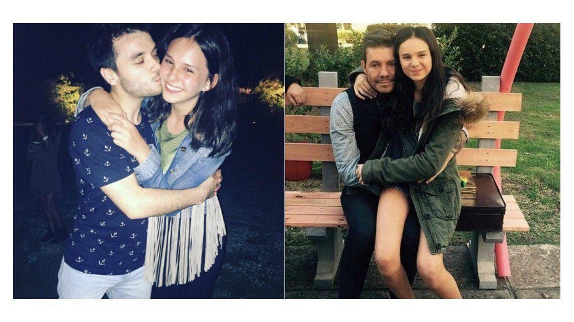 ¿Qué dirá Marcelo? El beso de un cantante de cumbia a Juanita Tinelli en una fiesta