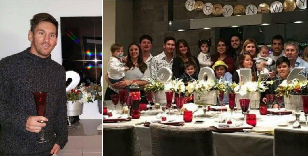 Lionel Messi recibió el 2016 con toda su familia en Barcelona: Feliz año nuevo para todos
